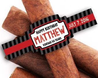 30th Birthday Custom Cigar Bands Cigar Labels Vintage Dude