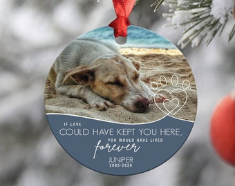 Custom dog handmade pottery ornament from a photograph of your pet