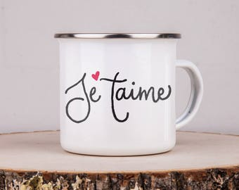 Camping Mug - Campfire Mug - Vintage Mug -Custom Mug - Coffee Mug -Coffee Cup -Customized Mug - Camping Gift -Personalized Gift - Je'Taime