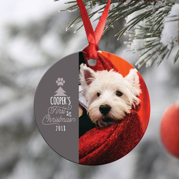 Dogs First Christmas Ornament.Dog S First Christmas Ornament Photo Ornament Personalized Christmas Ornament First Christmas Cat S First Christmas