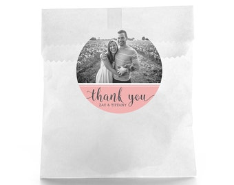 Wedding Favor Stickers - Personalized Wedding Favor Labels - Wedding Favor Labels - Thank You Stickers - Custom Bridal Shower