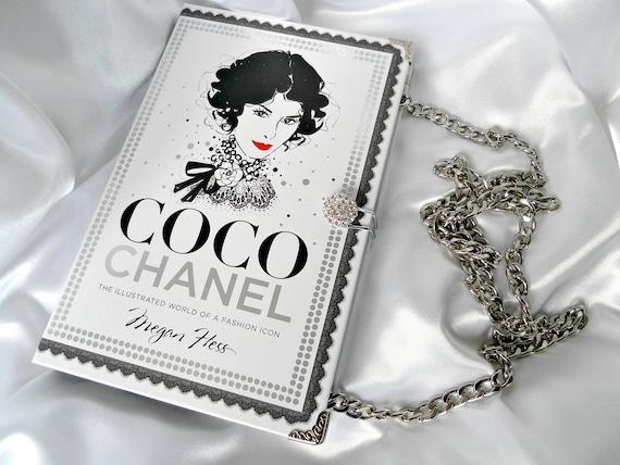b251dde2239e Book Purse Handbag Coco Chanel Fashion Book Handbag | Etsy