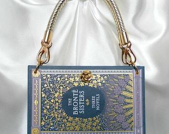 Bronte Sisters Book Handbag - Classic Book Cover Bag - Romantic Book Lover Gift