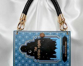 The Arabian Nights Book Handbag - Book Cover Purse - Aladdin Bag - Ali Baba Story Book