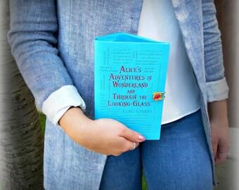 Book Clutch Purse - Alice's Adventures in Wonderland - Book Handbag - Book Purse - Alice in Wonderland