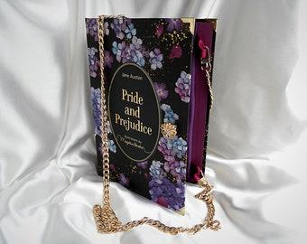 Pride and Prejudice Book Purse Handbag - Black Book Cover Handbag, Book Purse, Book Lover Gift, Jane Austen