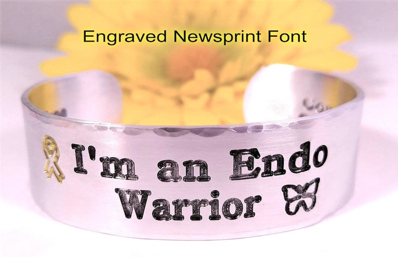 I/'m an Endo Warrior Butterfly Need A Cure Endometriosis Endo Warrior Ribbon Medical ID Endometriosis Awareness Endo Gift For Her