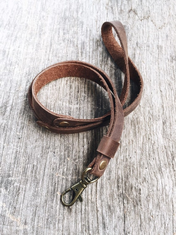 Leather keychain Leather Neck Strap Leather key strap Neck Lanyard leather key strap unisex style handmade Leather lanyard ID holder