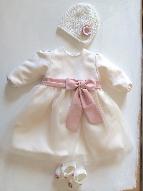 6f661a3b4de7e baptism dress winter girl christening gown ELLA