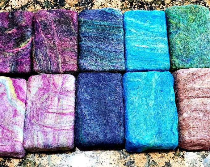 Featured listing image: Felted Alpaca Soaps in variety of fun colors