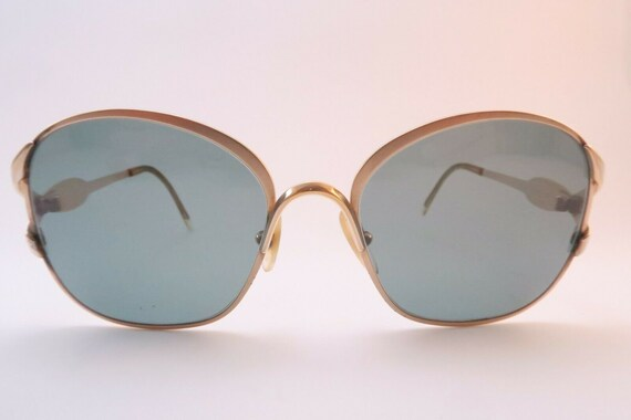 Vintage 1960s DIOR Sunglasses - Gold Tone Metal Fr