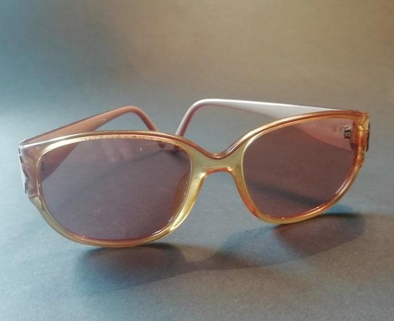 Vintage DIOR Sunglasses  - 1960s - Brown/Gold Flas