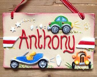 Children's Name Sign - Cars