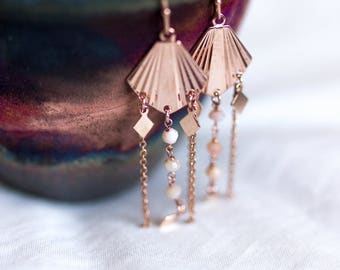 Ora pink earrings gold filled