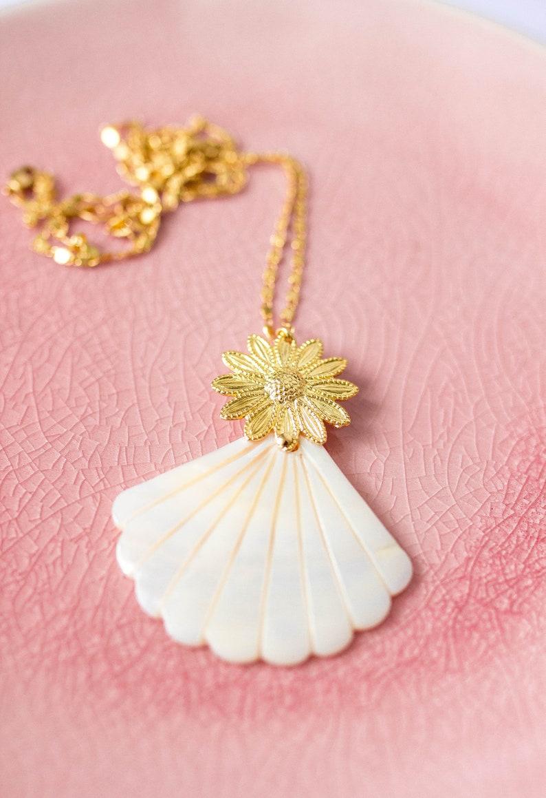 Long necklace jewel necklace Pearl element golden rose image 0