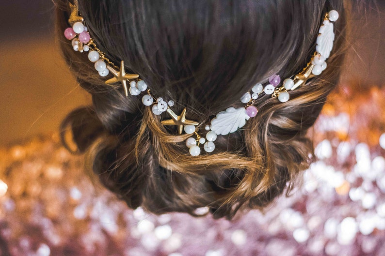 Large bridal hair comb bridesmaids hairdressing accessories image 0