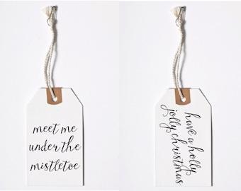 Christmas Gift Tags //  Printable Download // Christmas Gift Wrapping