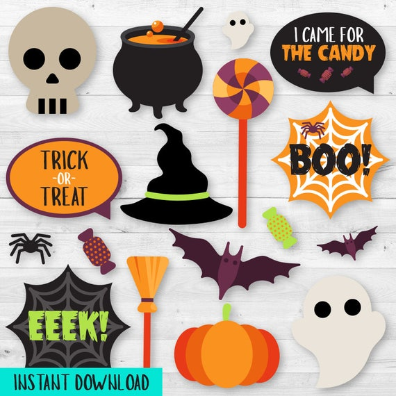 graphic regarding Halloween Photo Booth Props Printable identified as Quick Obtain Halloween Celebration Picture Booth Props - Printable Halloween Celebration Recreation - Image Booth Props