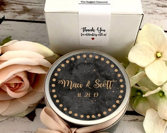 Moody Wedding Favors, Black and Gold Wedding Favors, Candles for Favors, Bulk Favors, Gifts For Guests, Moody Wedding Decor, Favor Gift Box