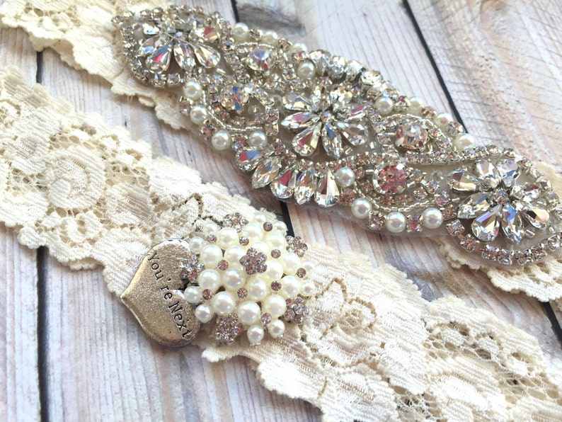 bridal garter set no slip You/'re Next Wedding Garter garter belt ivory garter set wedding garter set ivory No slip garter set