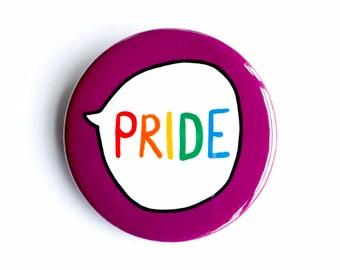 Pride Pin Badge Button