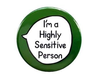 Highly Sensitive Person HSP - Pin Badge Button