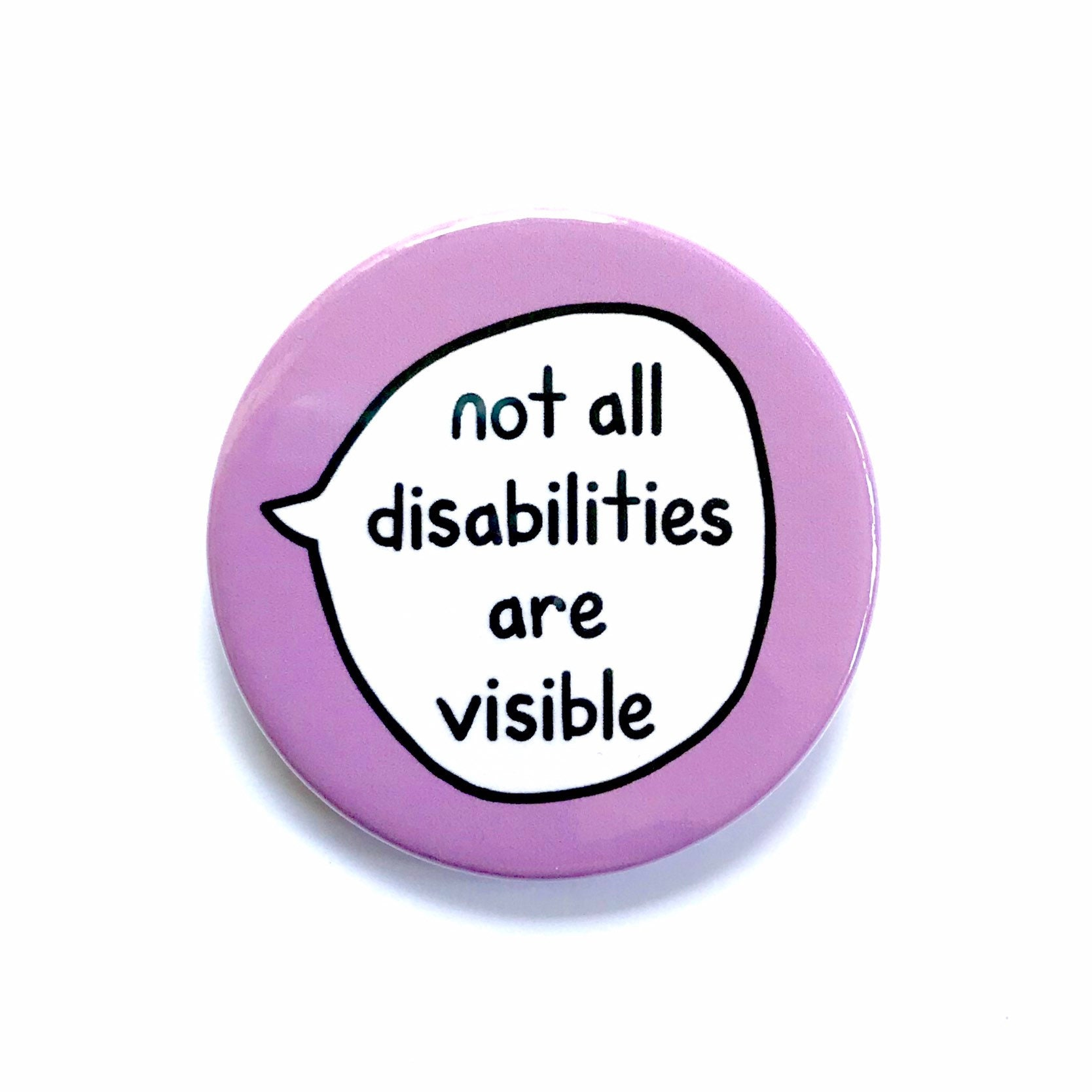 not all disabilities are visible - HD1588×1588