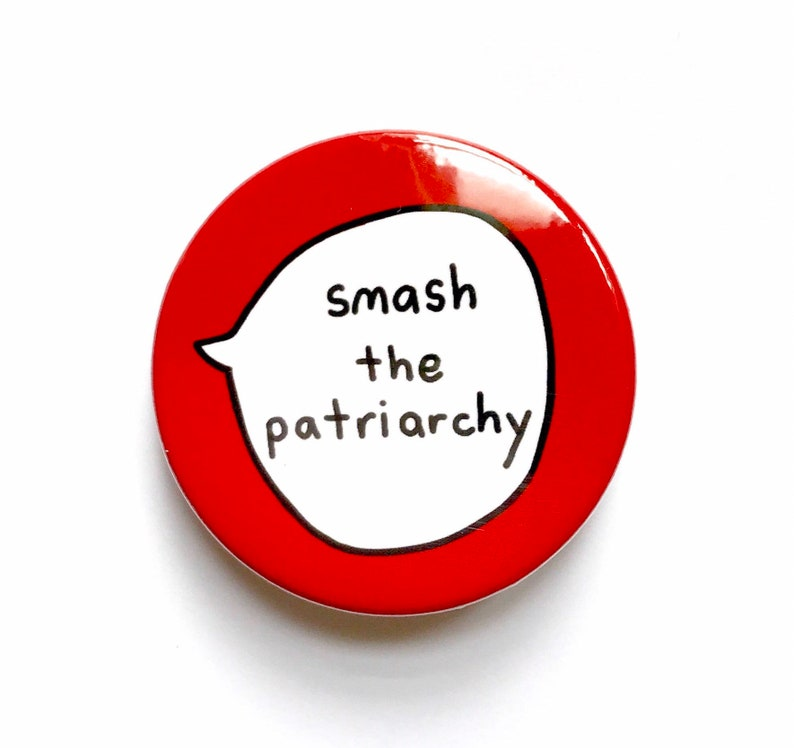Smash the patriarchy Pin Badge Button image 0