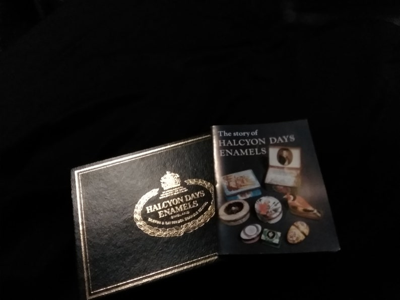 Wonderful Halcyon Days Enamel box-Christmas poem by Irene Cummings-Christmas bells on top of Halcyon Days enamel box with presentation box