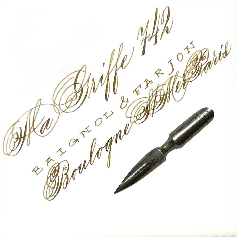 Baignol /& Farjon Ma Griffe 742 Vintage nib modern calligraphy Styles of Pointed Pen Script Spencerian Copperplate Penmanship