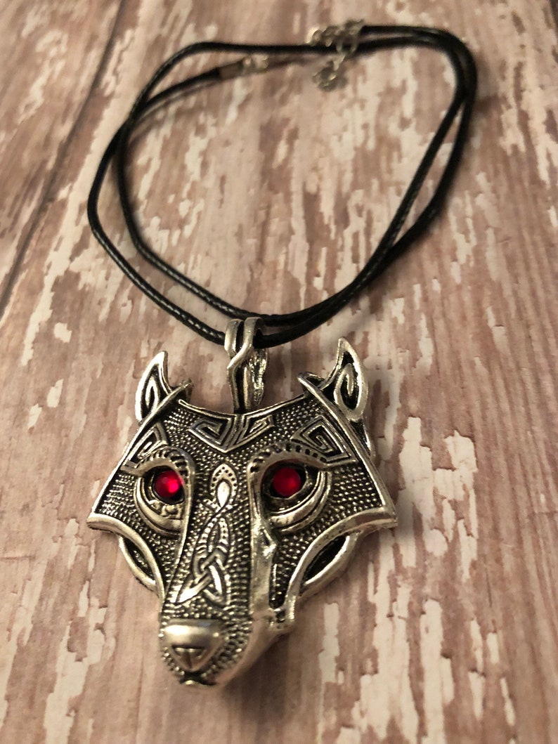 unisex necklace tribal wolf necklace wolf jewelry Wolf necklace gifts for him