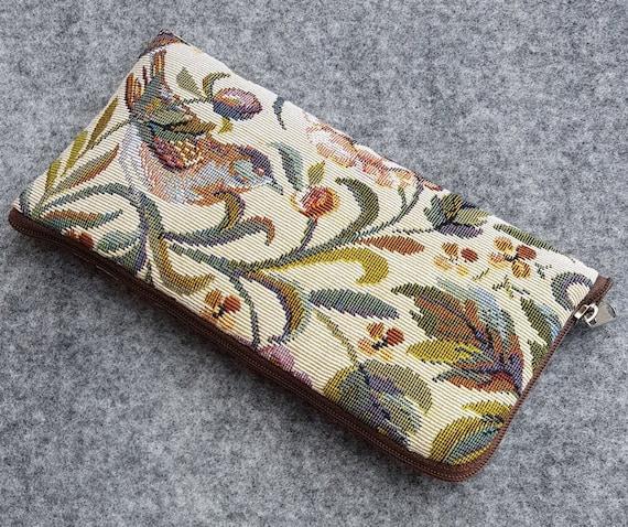 Beautiful Garden Birds Print, Case for Google Pixel, 4 XL 3a 3 2, Mini Bag Cover with Zipper, Strong Upholstery Fabric Clutch, Purse Wallet