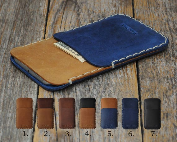 Crosscall ACTION-X3 PERSONALIZED ENGRAVED Case Pouch Handmade Cover Genuine Leather Shell Wallet Sleeve Vintage Style Custom Sizes