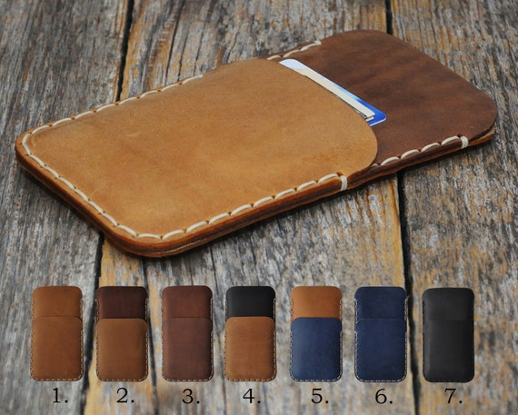 BlackBerry KEY2 Motion KEYone DTEK60 DTEK50 Leap Priv Case Wallet Rough Style Handmade Aged Leather Pouch Sleeve Custom Sizes Available