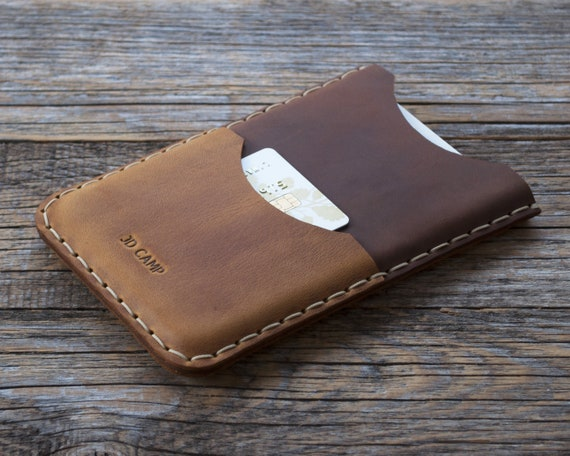 Case for Microsoft Surface Duo, Hand Stitched Leather Sleeve, Cover with Card Pocket, Personalised Wallet