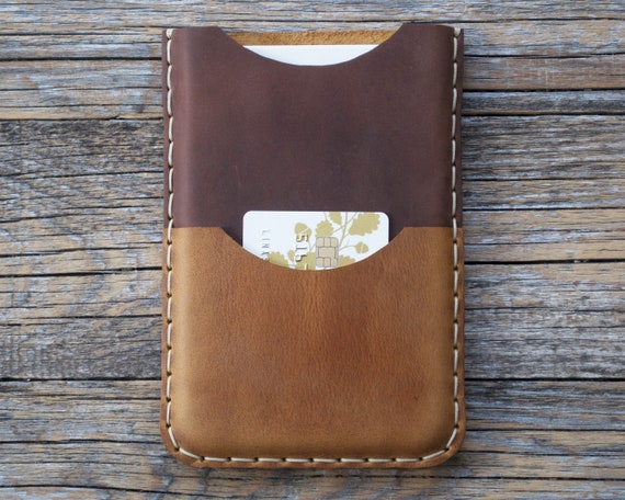 Personalised Case for Microsoft Surface Duo, Hand Stitched Bovine Leather Sleeve, Pouch with Card Pocket