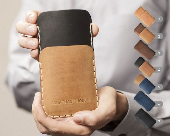 Handmade leather Case for Fairphone 3 2. PERSONALIZED ENGRAVED Cover Shell Wallet Sleeve Vintage Style Custom Sizes.