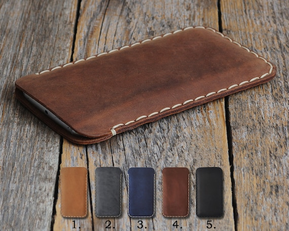OnePlus 7 Pro 6T 6 5T 5 3T 3 X 2 One Case Pouch. Handmade Cover Genuine Real Cow Leather Shell Sleeve Rough Vintage Style Custom Sizes