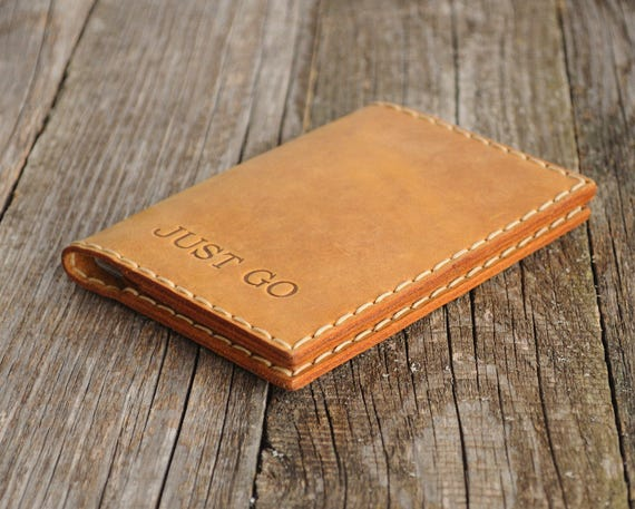 Personalized Leather Passport Holder, Travel Wallet, Document Case
