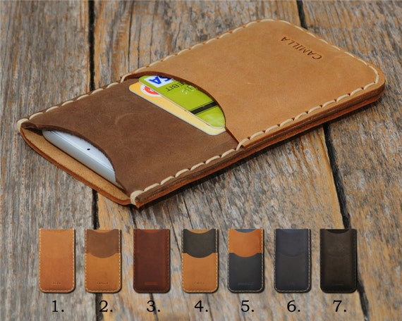 Hand Stitched Leather Case for LG, Personalized Cover Sleeve