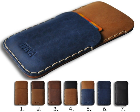 Leather Cover for Nokia - 5.3 2.3 7.2 6.2 4.2 3.2 9 PureView 3.1 Plus 1 8.1 7.1 6.1 5.1 - Case Wallet Sleeve - Hand Stitched- Personalized