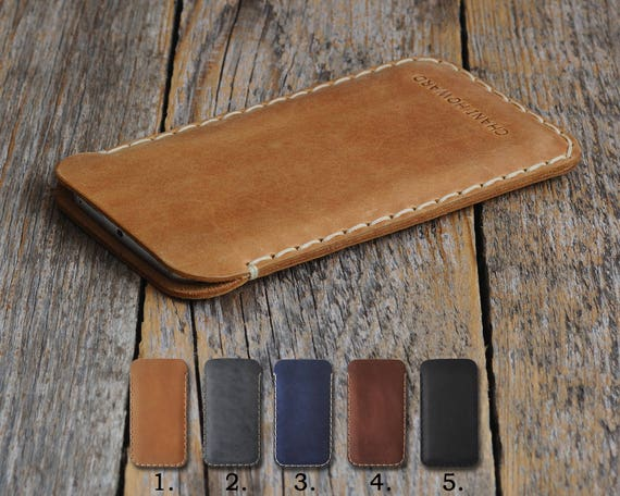 HP Elite x3 Cover Case Genuine Waxed Leather Sleeve Vintage Style Personalized Gift Pouch MONOGRAM Your Name