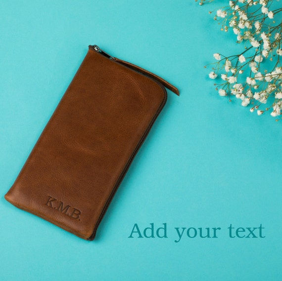 Soft Italian Leather Case for Xiaomi, Polyester Lining Pouch, Zip Fastener, Free Personalization