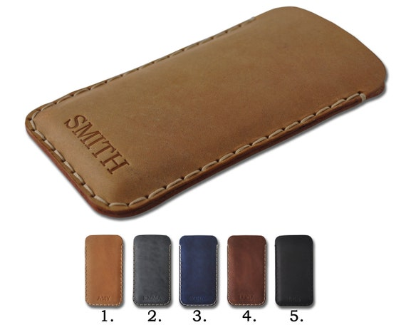 Hand Stitched Leather Cover for Samsung Galaxy, Note 20 Ultra S20+ S10 A01 A51 A71 A01 A80, Free Personalisation, Case Sleeve, Custom Sizes