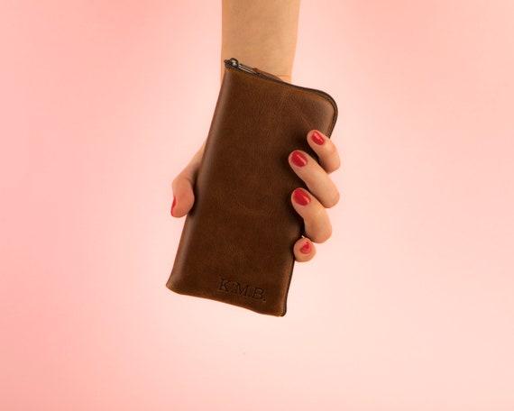 Italian Leather Case for Huawei P30 Pro Lite P Smart Z Y9 Y6 2019 Mate X Mini Zipper Bag Brown Wallet Pouch