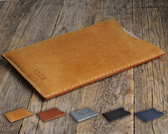 Case Cover for Toshiba Chromebook 2 PERSONALIZED Your Name Waxed and Aged Leather Sleeve Rough Style Bag.