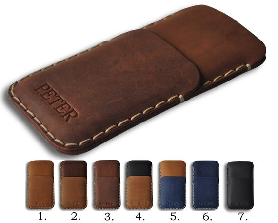 Hand Stitched Leather Case for Samsung Galaxy, Note 20 A51 A71 S20+ S20 S9 S10, Sleeve Cover, Custom Any Sizes, Personalized Wallet