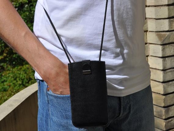 Leather Case for BlackBerry, KEY2 LE  Motion KEYone DTEK50 DTEK60 Leap, Handmade Pouch Sleeve, Neck Strap, FREE Personalization