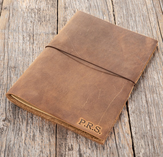 Leather Notebook | Handmade Leather Journal | A gift for writer, poet, traveller. A5 size.