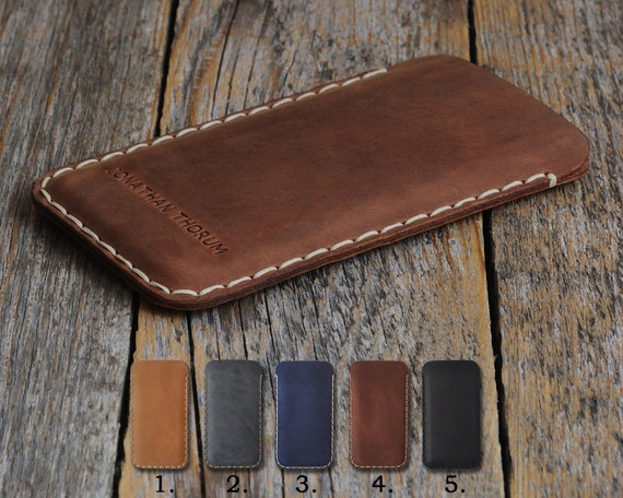 Leather for Microsoft Lumia 650 950 640 550 540 430 XL Dual PERSONALIZED Cover Pouch Case Sleeve Rough Vintage Look Custom Sizes Available